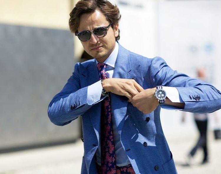 Roberto projektuje odzież męską