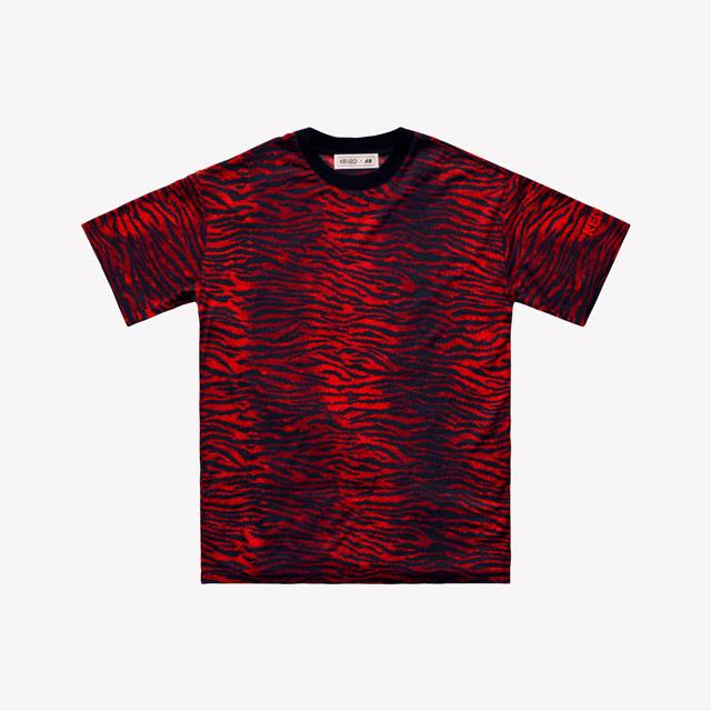 Wełniany t-shirt Kenzo dla H&M