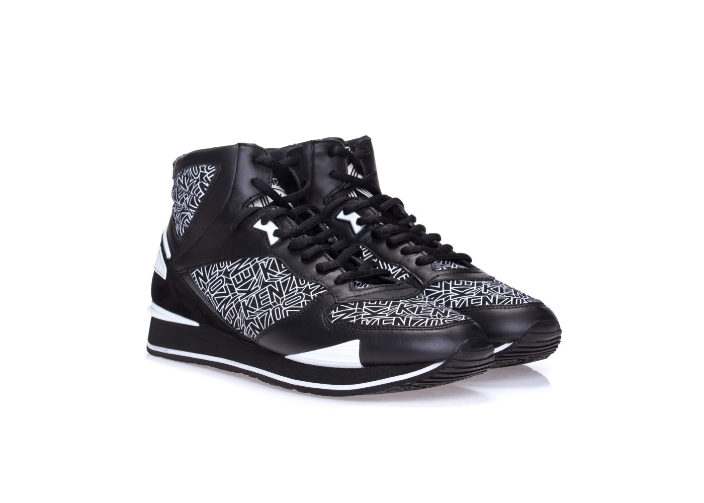 Czarno-białe męskie buty Kenzo
