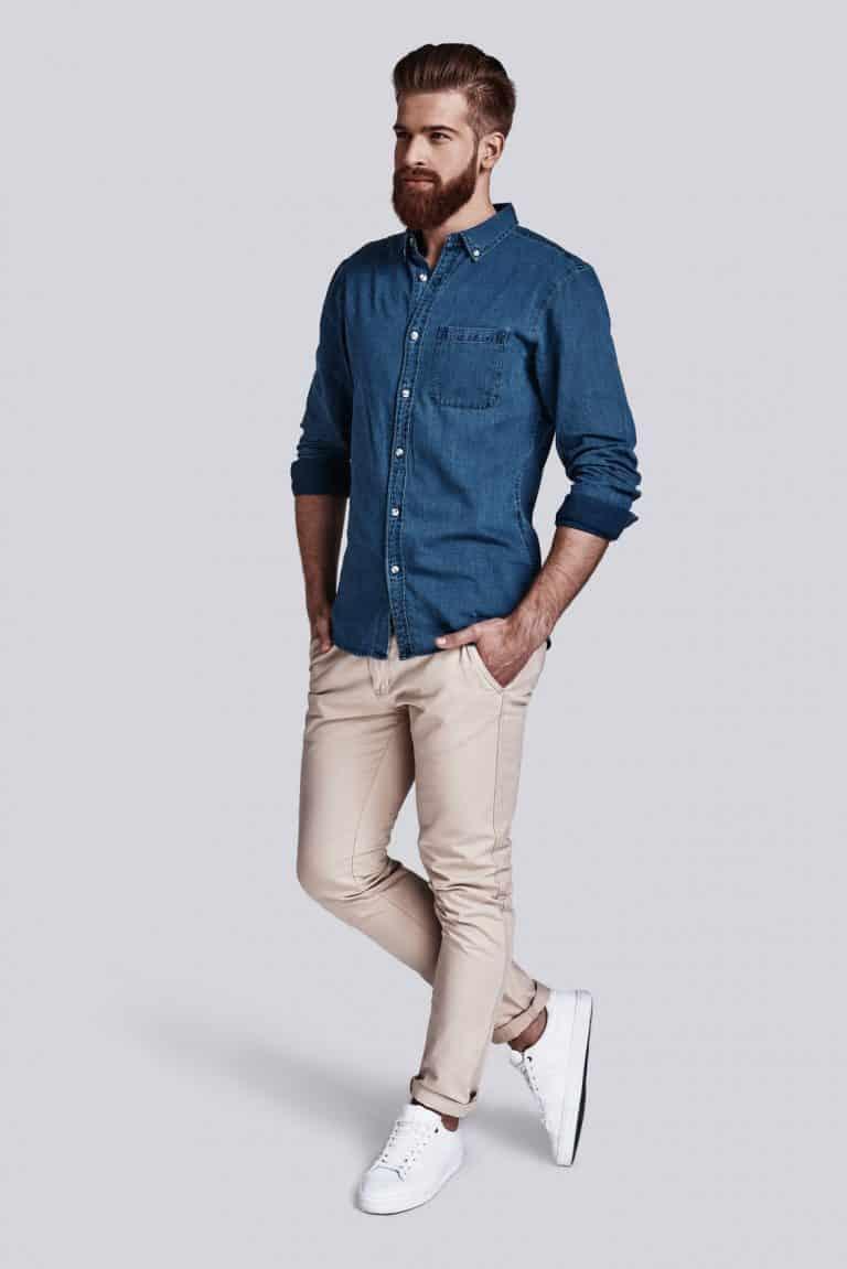 Chinosy męskie, spodnie idealne na upalne dni